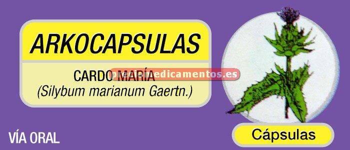 Caja ARKOCAPSULAS CARDO MARIANO 300 mg 50 cápsulas