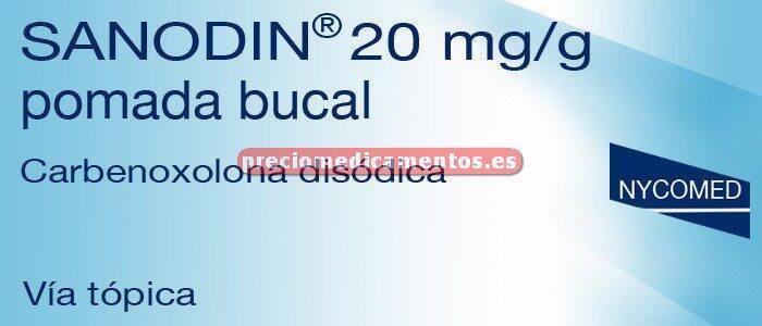 Caja SANODIN 2% pomada bucal 15 g