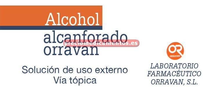 Caja ALCOHOL ALCANFORADO ORRAVAN solución 250 ml