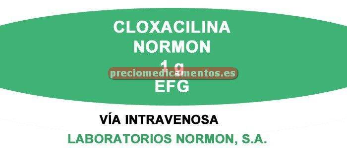 Caja CLOXACILINA NORMON EFG 1 g 1 vial