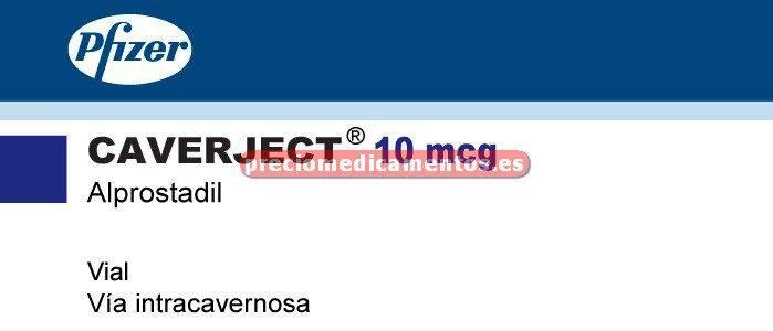Caja CAVERJECT 10 mcg 1 vial - jeringa disolvente