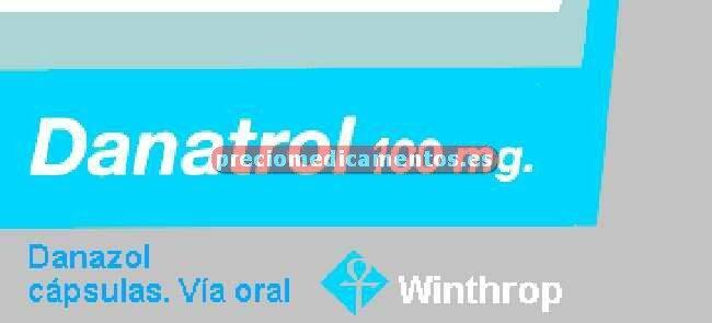 Caja DANATROL 100 mg 60 cápsulas