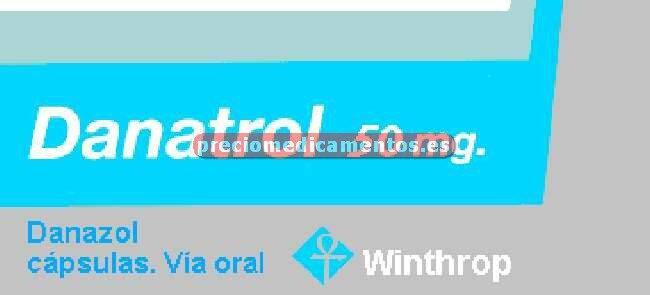 Caja DANATROL 50 mg 60 cápsulas