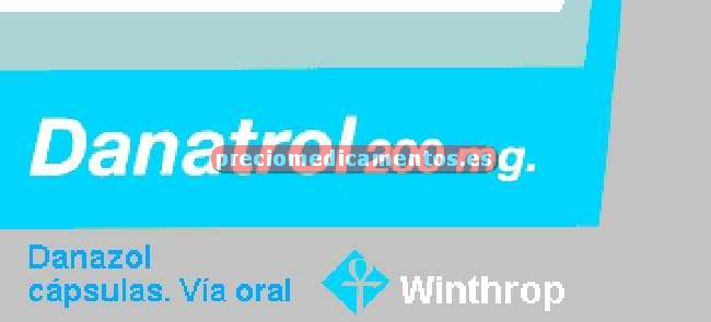 Caja DANATROL 200 mg 60 cápsulas