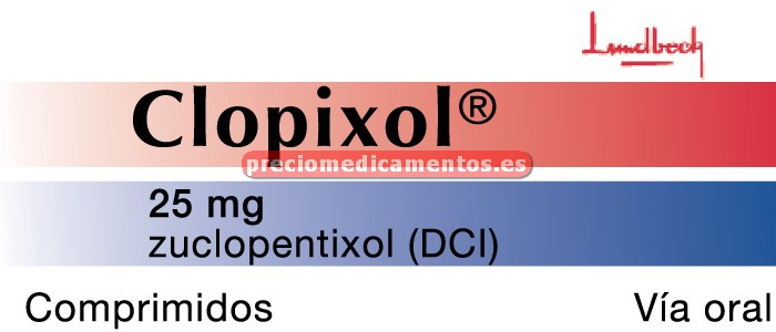 Caja CLOPIXOL 25 mg 30 comprimidos recubiertos