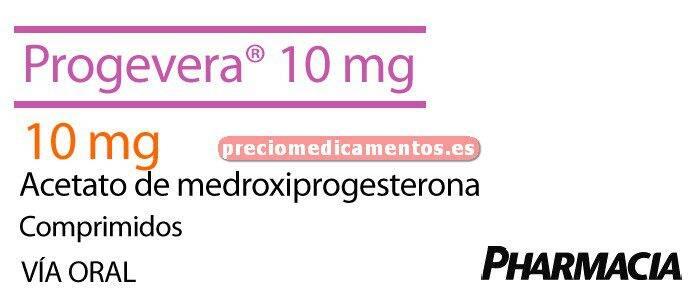 Caja PROGEVERA 10 mg 30 comprimidos