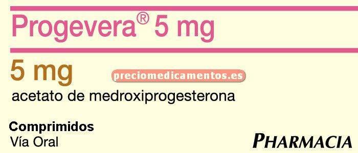 Caja PROGEVERA 5 mg 24 comprimidos