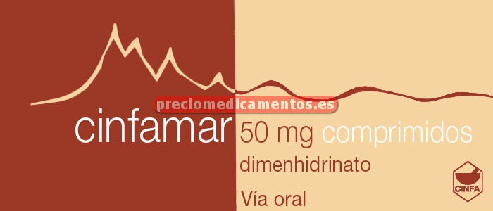 Caja CINFAMAR 50 mg 4 comprimidos recubiertos