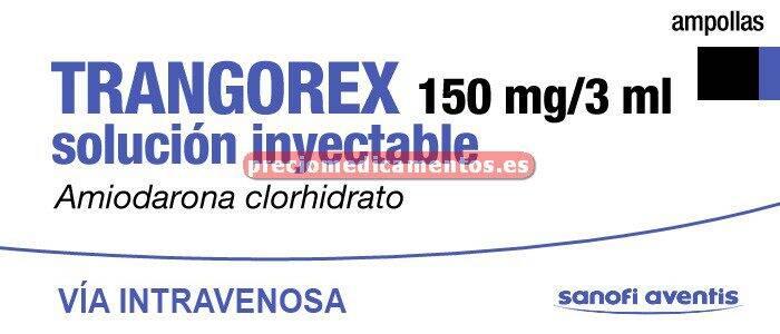 Caja TRANGOREX 150 mg 6 ampollas 3 ml