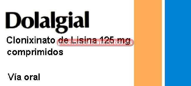 Caja DOLALGIAL 125 mg 20 comprimidos recubiertos