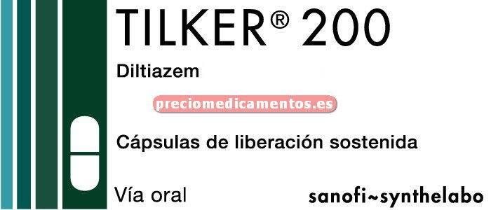 Caja TILKER 200 mg 28 cápsulas liberación prolongada
