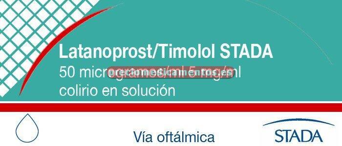 Caja LATANOPROST/TIMOLOL STADA colirio 1 frasco 2.5 ml