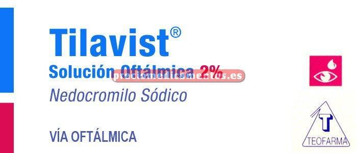 Caja TILAVIST 2% colirio 5 ml