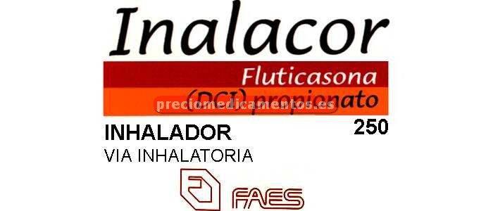 Caja INALACOR 250 mcg/pulsación aerosol 120 dosis