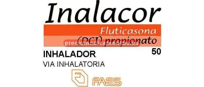 Caja INALACOR 50 mcg/pulsación aerosol 120 dosis