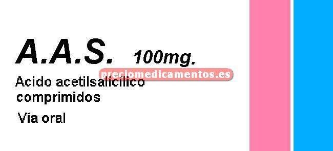 Caja A.A.S. 100 mg 30 comprimidos