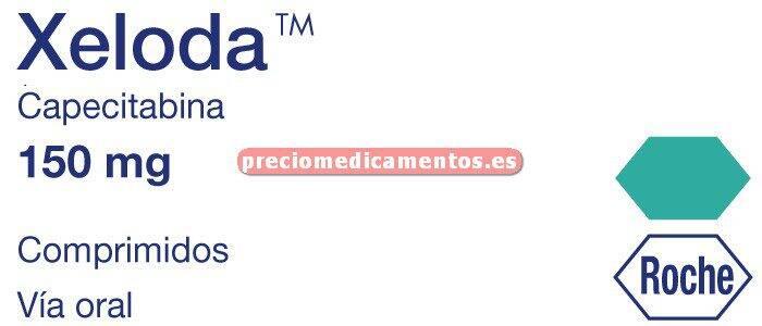 Caja XELODA 150 mg 60 comprimidos cubierta pelicular