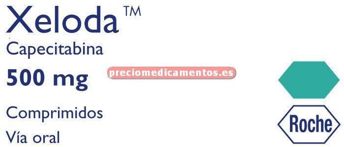 Caja XELODA 500 mg 120 comprimidos cubierta pelicular