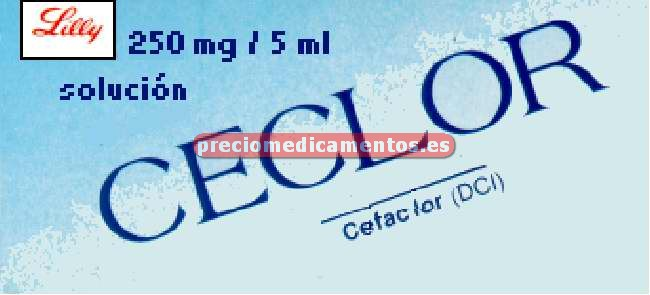 Caja CECLOR 250 mg/5ml suspensión 100 ml