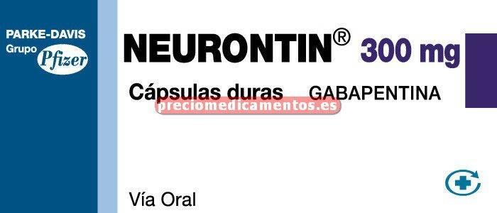 Caja NEURONTIN 300 mg 90 cápsulas