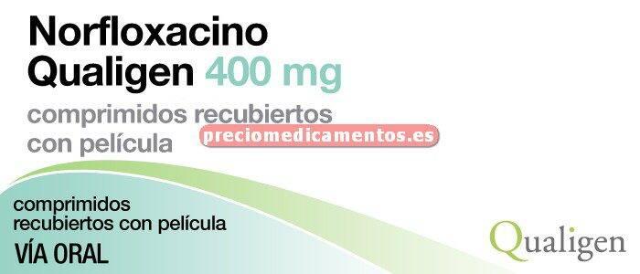 Caja NORFLOXACINO QUALIGEN 400 mg 14 comprimidos