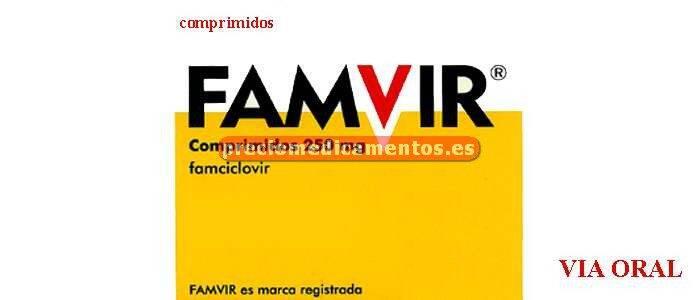 Caja FAMVIR 250 mg 21 comprimidos recubiertos
