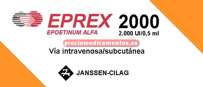 Caja EPREX 2000 UI 6 jeringas precargadas 0,5 ml