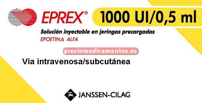 Caja EPREX 1000 UI 6 jeringas precargadas 0.5 ml