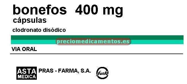Caja BONEFOS 400 mg 60 cápsulas