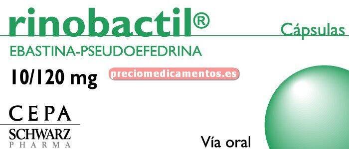 Caja RINOBACTIL 10/120 mg 10 cápsulas