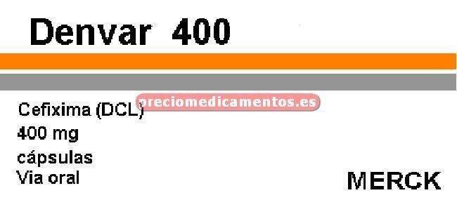 Caja DENVAR 400 mg 10 cápsulas