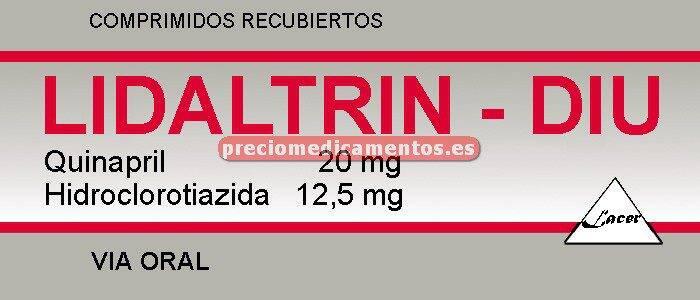 Caja LIDALTRIN DIU 20/12,5 mg 28 comprim recub película