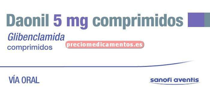 Caja DAONIL 5 mg 100 comprimidos