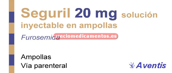 Caja SEGURIL 20 mg 5 ampollas 2 ml