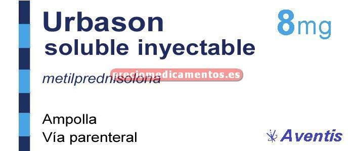 Caja URBASON SOLUBLE 8 mg 1 ampolla