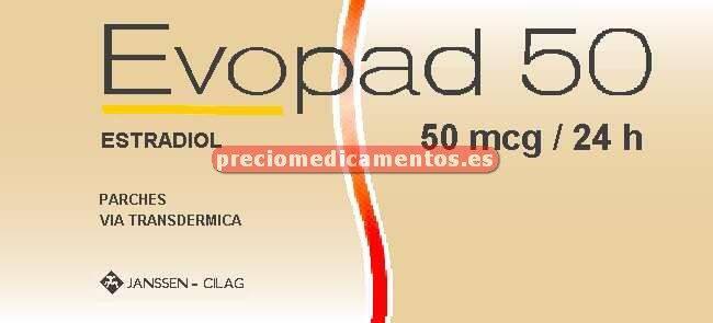 Caja EVOPAD 50 mcg/24h 8 parches transd 3,2 mg