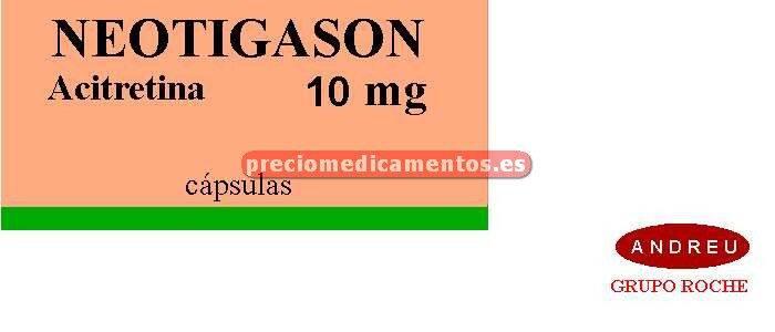 Caja NEOTIGASON 10 mg 30 cápsulas