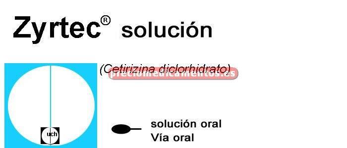 Caja ZYRTEC 5 mg/5 ml solución oral 60 ml