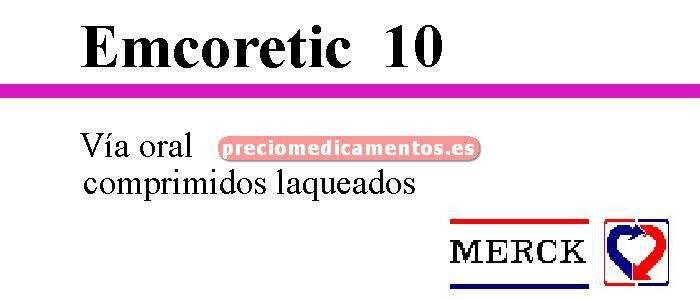 Caja EMCORETIC 10/25 mg 28 comprimidos