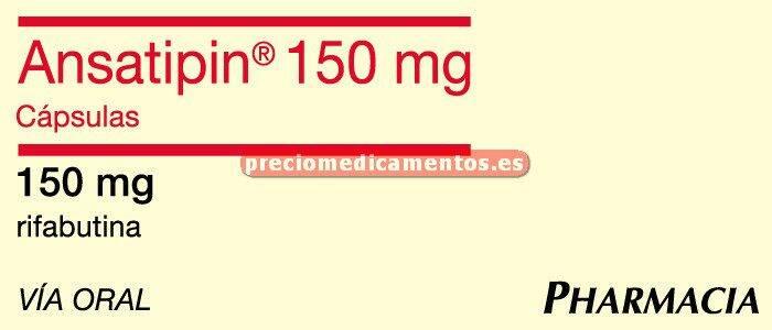Caja ANSATIPIN 150 mg 30 cápsulas