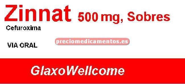 Caja ZINNAT 500 mg 10 sobres