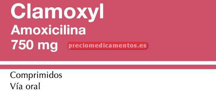 Caja CLAMOXYL 750 mg 20 comprimidos
