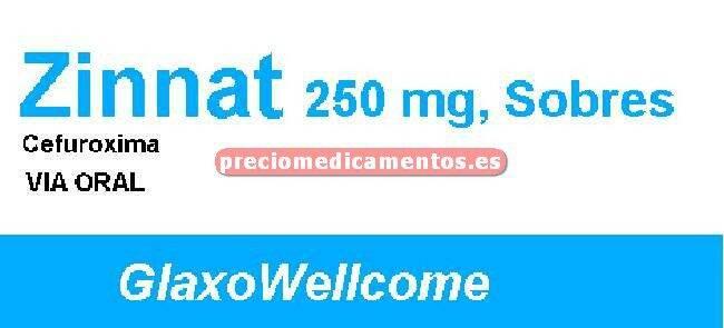 Caja ZINNAT 250 mg 10 sobres