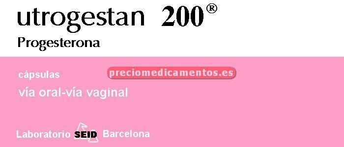 Caja UTROGESTAN 200 mg 60 cápsulas