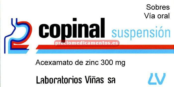 Caja COPINAL 300 mg 60 sobres suspensión