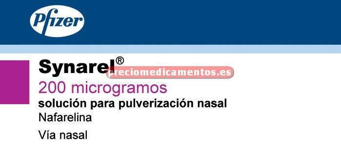 Caja SYNAREL 200 mcg/dosis inhalador nasal 60 dosis