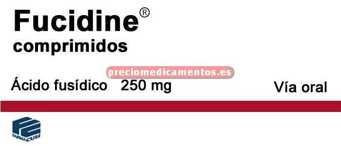 Caja FUCIDINE 250 mg 10 comprimidos recubiertos