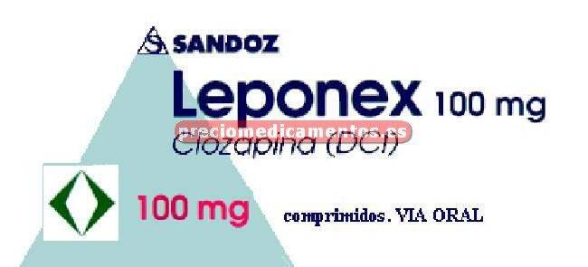 Caja LEPONEX 100 mg 40 comprimidos
