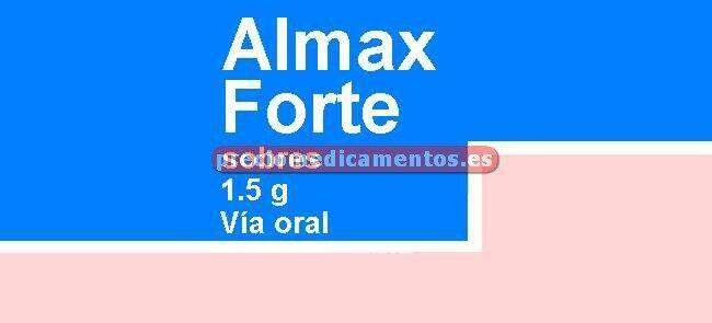 Caja ALMAX FORTE 1.5 g 16 sobres suspensión oral