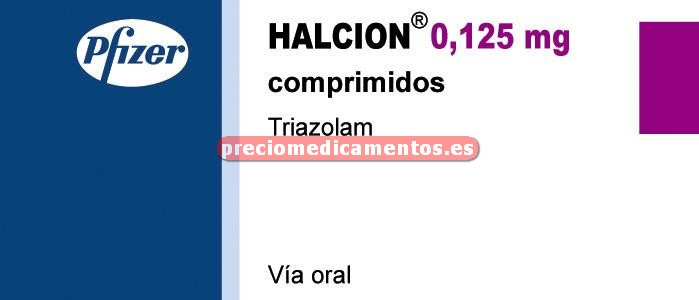 Caja HALCION 0.125 mg 30 comprimidos